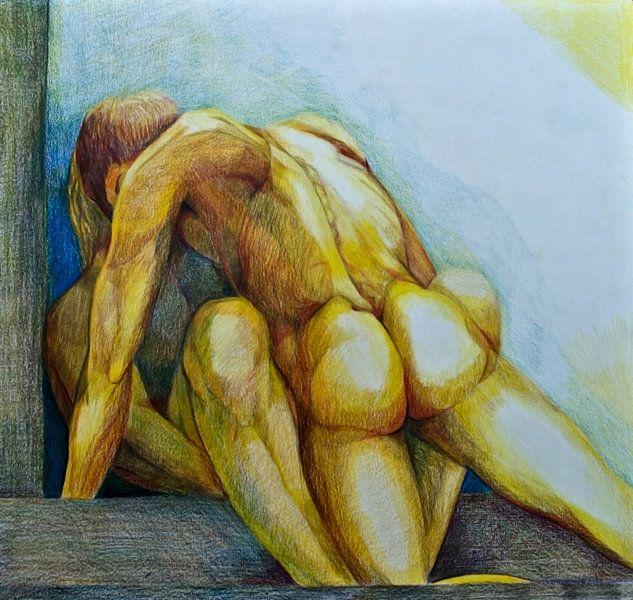 Zeichnung von 2 Personen. von Therese Brals