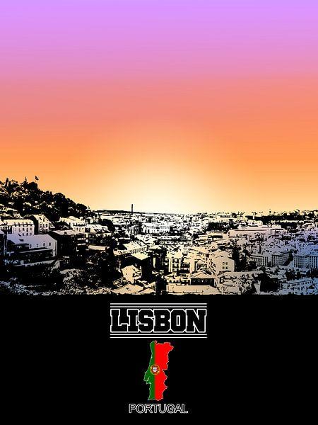 Lissabon van Printed Artings