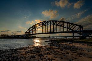 Sonnenuntergang an der IJsselbrücke Zwolle
