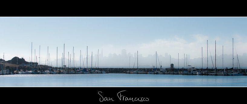 San Francisco Skyline van Wim Slootweg
