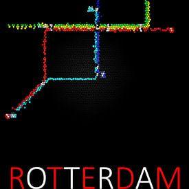 Rotterdam Metro Systeem von Wouter Sikkema