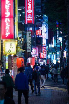 Shibuya at night van Meneer Bos
