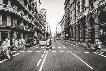 Straat in Barcelona van Rick Wiersma