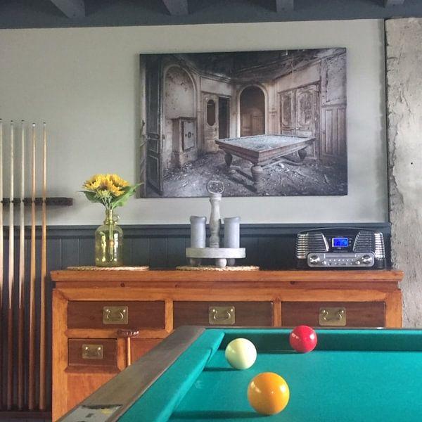 Klantfoto: Biljart van Olivier Van Cauwelaert, op canvas