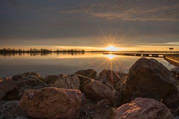Zonsondergang Valkenburgse Meer von Paul Algra