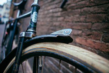 Vintage fiets sur