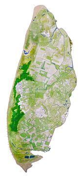 Texel | Landkaart Schilderij van - Wereldkaarten.shop -