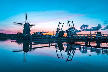 Sonnenuntergang in Kinderdijk von Henri van Avezaath