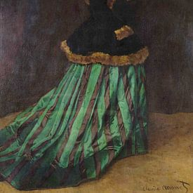 De vrouw in de groene jurk - Claude Monet van Marieke de Koning