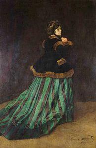De vrouw in de groene jurk - Claude Monet van