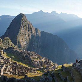 Machu Picchu, photo panoramique de la ruine Inca, Pérou sur Martin Stevens