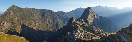 Machu Picchu, Panorama foto van Inca Ruïne, Peru