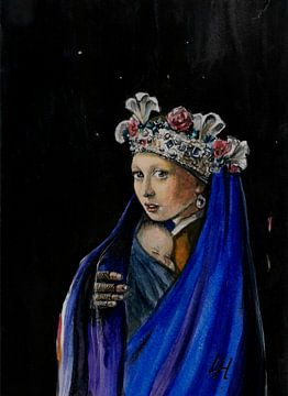 Madonna with pearl van