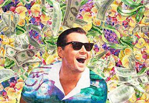 Porträt von Leonardo DiCaprio im Wolf der Wall Street