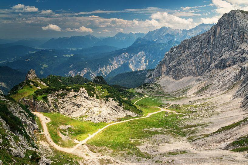 Alpspitze bij Garmisch Partenkirchen van Ilya Korzelius