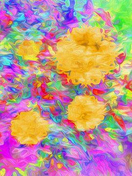 Komposition mit gelben Blumen von Joost Hogervorst