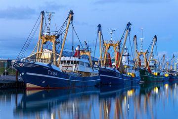 Bateaux de pêche dans le port du bouclier parent sur Everydayapicture_byGerard  Texel