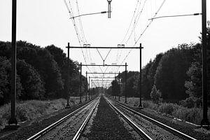 Uitzicht op het spoor van Jan Verschoor