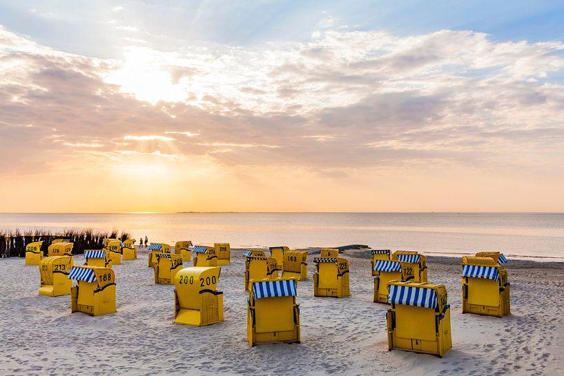 Strand an der Nordsee in Cuxhaven von Werner Dieterich