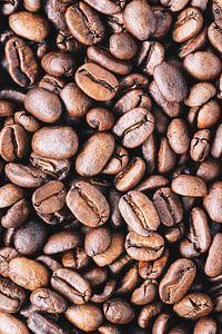Close-up van verse koffiebonen l Food fotografie