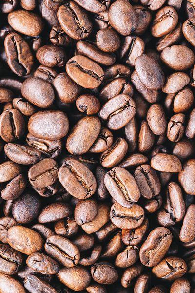 Close-up van verse koffiebonen l Food fotografie van Lizzy Komen