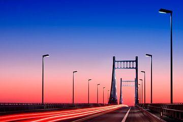 Rheinbrücke Uerdingen von Volker Banken