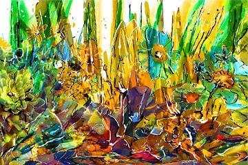 Kleurrijk boeket van Henk van Os