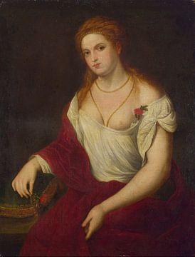 Paris Bordone, Portett einer jungen Frau - 1500er Jahre von Atelier Liesjes