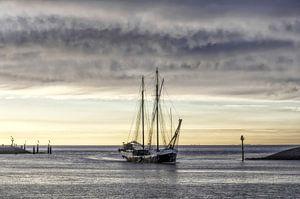 Beautiful sky over the Wadden Sea