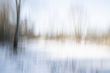 Een abstract landschap in de sneeuw - 27 van Danny Budts