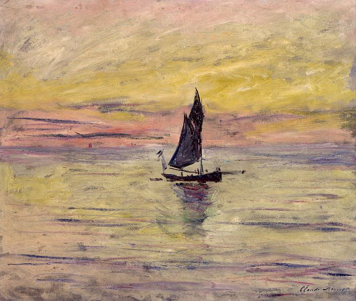 The Sailing Boat, Evening Effect - Claude Monet von Bridgeman Masters