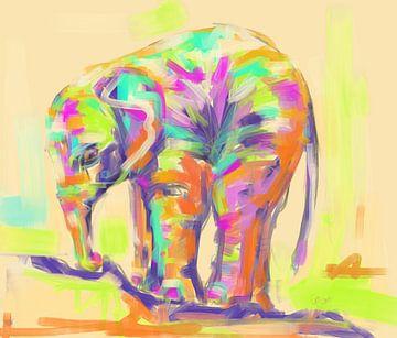 Baby Elefant von Go van Kampen