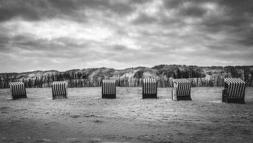 Strandkörbe auf Norderney von Steffen Peters