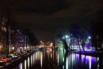 Nieuwe Herengracht bij avond van Wim Stolwerk