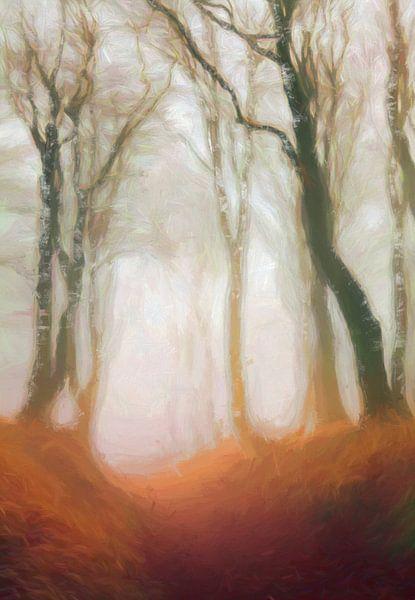 Forêt à l'aube van Angel Estevez
