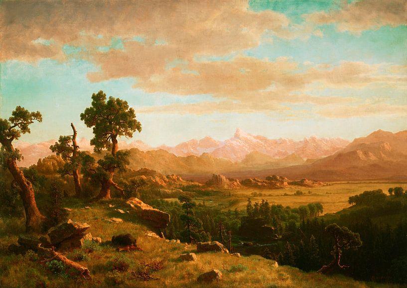 Wind River Country, Albert Bierstadt von Meesterlijcke Meesters