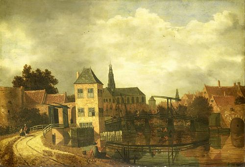Gezicht op Haarlem over het Spaarne, Balthasar van der Veen van