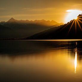 Sonnenuntergang in Zell am See - Salzburgerland - Österreich von Felina Photography