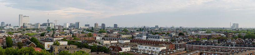 Panorama van de stad Rotterdam, Netherlands van Martin Stevens