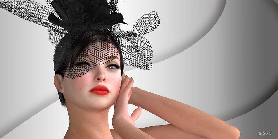 Elegante Frau mit Hut von Britta Glodde
