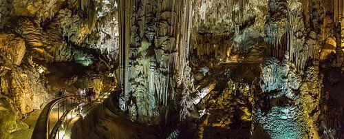 De druipsteengroteen Cueva de Nerja, Nerja, Andalucia, Spanje van Rene van der Meer