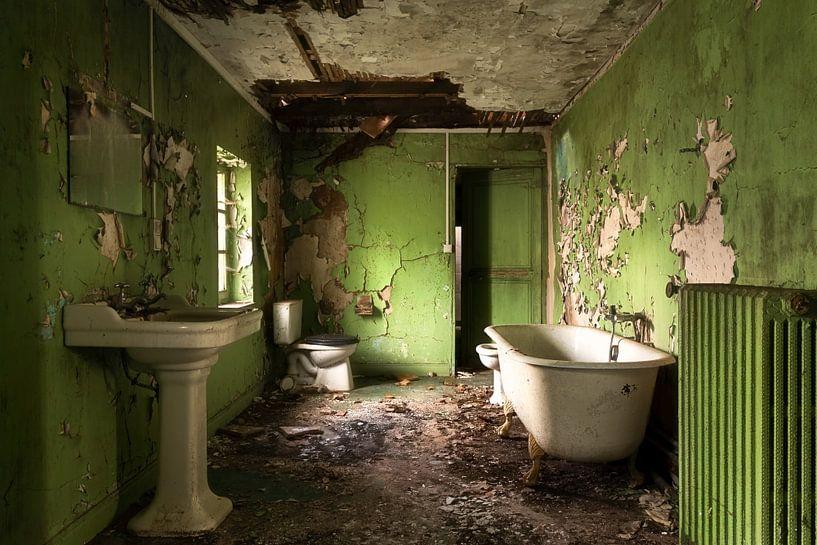 Groene Verlaten Badkamer. van Roman Robroek