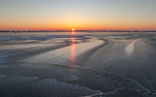 Winterse zonsopkomst Braassemermeer van Dirk Jan Kralt
