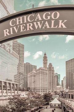 CHICAGO Riverwalk stedelijke vintage stijl van Melanie Viola