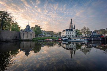 Hafen von Spanjaardsgat Breda morgens von Andre Gerbens