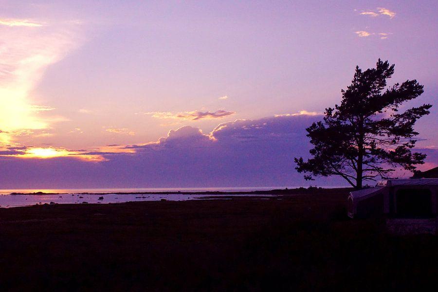 Sunset in Pointe-au-Pere van Aimelle ML