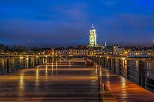 Deventer  Skyline Lebuinus kerk avond fotografie van