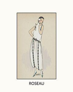 Roseau   Historischer Art Deco Fashion Print   Vintage Design im modernen Look
