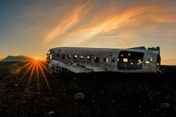 Solheimasandur vliegtuigwrak in IJsland van Dieter Meyrl
