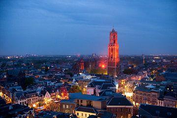 De Domtoren van Utrecht oranje verlicht von Desiree Meulemans